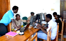 Computer training volunteer Africa